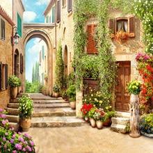 3D Wallpaper European Town Street Background – Papel De Parede