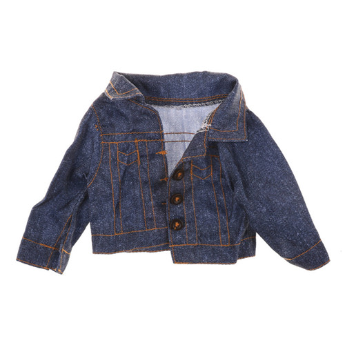 Jeans Wear Winter Coat  For  Girl Doll Clothes For 18 Inch Doll