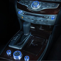 Control Model GPS switch volume button seat heating knob cover trim sticker for Infiniti Q70 QX60 JX35 M25 Interior Accessories