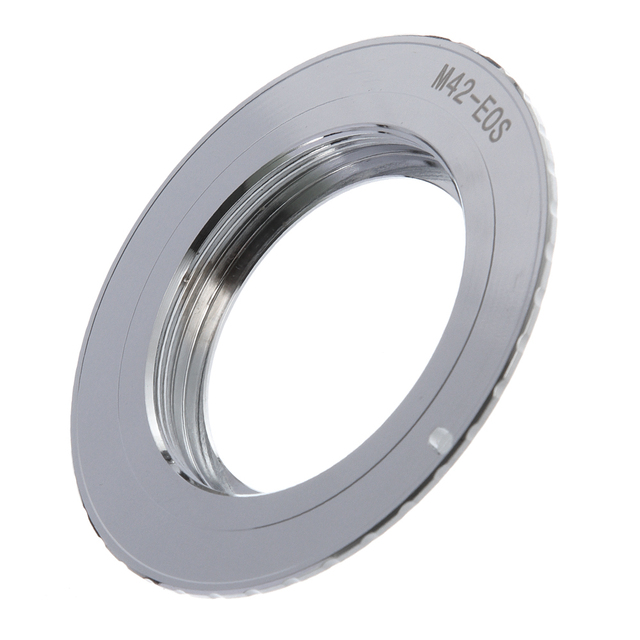 9th Generation AF Bestätigen w/ Chip Adapter Ring für M42 Objektiv zu Canon EOS 750D 200D 80D 1300D