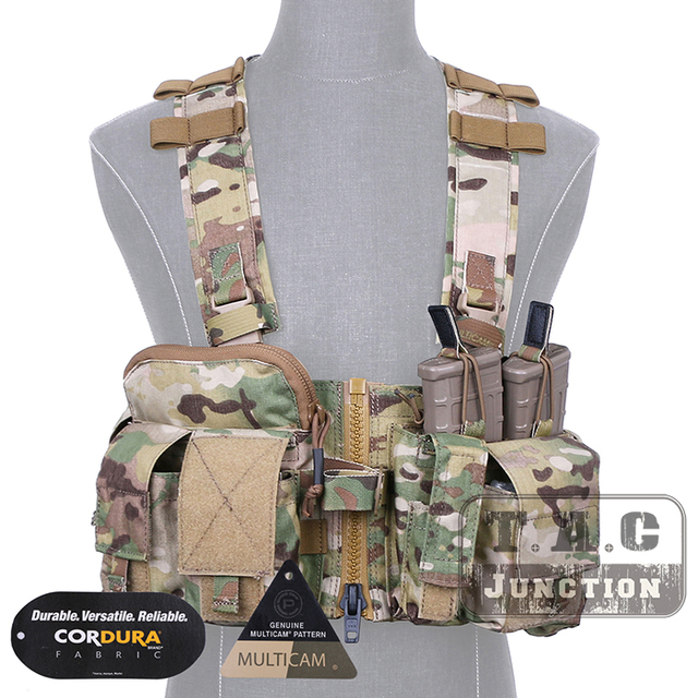 Emerson Tactical UW Split Front Gen V Chest Rig EmersonGear Multi Purpose Carrier Vest W/ M4 M16 Pistol Magazine Mag Pouches