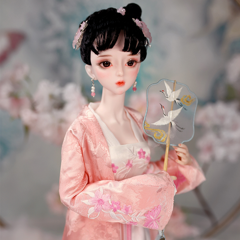BJD doll 1 3 joint body 62CM Sheng Minglan Hand painted makeup Suit with clothes shoes