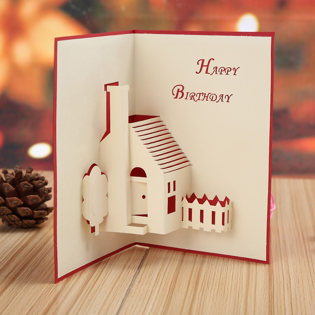 Manufacturers selling house of happiness stereo creative children manufacturers selling house of happiness stereo creative children birthday wishes logo custom printed card cards m4hsunfo