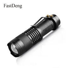 Mini LED Flashlight 1000LM Q5 LED Torch 3 Mode Waterproof Adjustable Focus Zoom Flash Light Lamp use 14500 or AA battery hugsby p2 190 lumen 3 mode led flashlight 1 aa 1 14500
