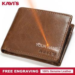 Мужской кошелек KAVIS из натуральной кожи, на застежке, Portomonee, портфель, волшебный, простой, мужской, Cuzdan, сделай сам, подарок для мужчин, тонкий ...