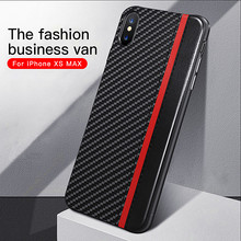 Get more info on the For iphone X case Carbon fiber + PU leather business style hard phone case for iphone 6 6s 7 8 plus & apple XR XS MAX cover