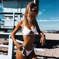 ZTVitality Swimsuit 2018 New Arrival Beach White Bikini Bandage Brazilian Biquini Low Waist Sexy Swimwear Women