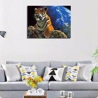 Tiger Zwierzęta Abstrakcyjne oprawione Diy Malowanie Przez Numery Home Decor Ręcznie Malowane Obraz Olejny Obraz Sztuki Na Ścianie Wyjątkowy Prezent