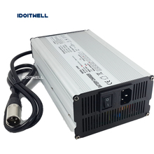 XLR Connector 60V 8A Lithium battery charger output 67.2v 16S Li-ion battery charger input 230Vac for 24AH 30AH Lithium battery 16s 67 2v 1 5a lithium battery charger for electric bike 60v li ion battery charger 3p gx16 connector