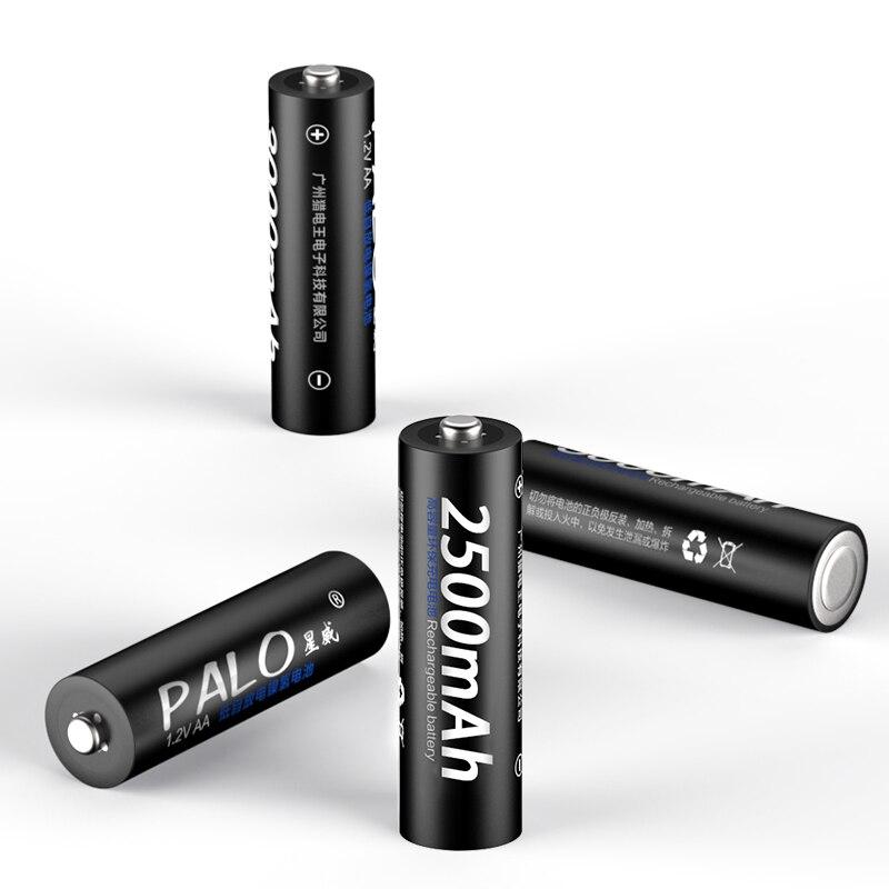 Image 4 - PALO 4PCS real Capacitya AA 2500mAh 1.2V 3000MAH NI MH Pre charged Rechargeable AA 1300MAH battery 3A 1100MAH AAA Baterias-in Rechargeable Batteries from Consumer Electronics