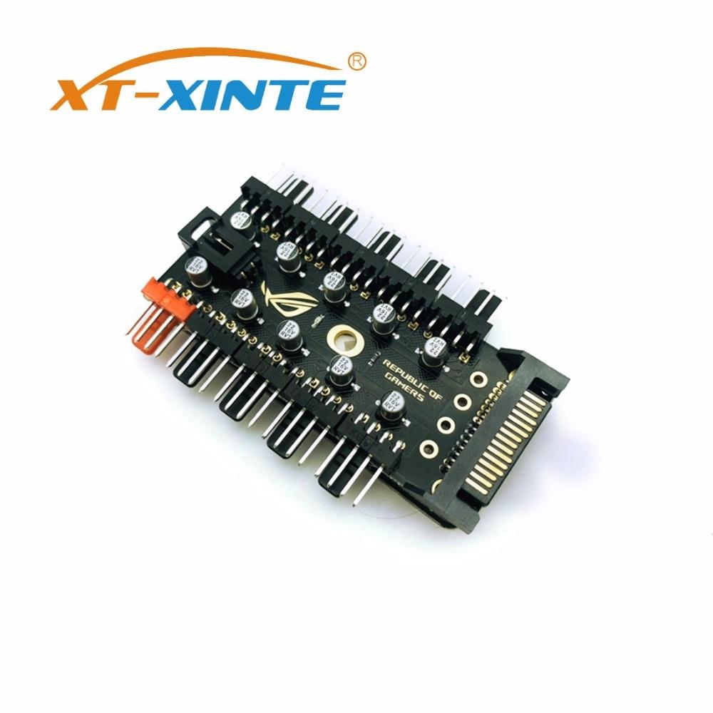 XT-XINTE 1 to 10 Hub Splitter PWM 4Pin 12V Power Supply Speed Controller Miner