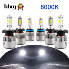 Hlxg 2x Kit h7 Auto S2 headlight led 72w 8000k Bulb h4 Hb4 Hi Lo High Low Beam 36W H7 H1 H3 H8 H9 H11 9005 HB3 9006 8000ml(China)