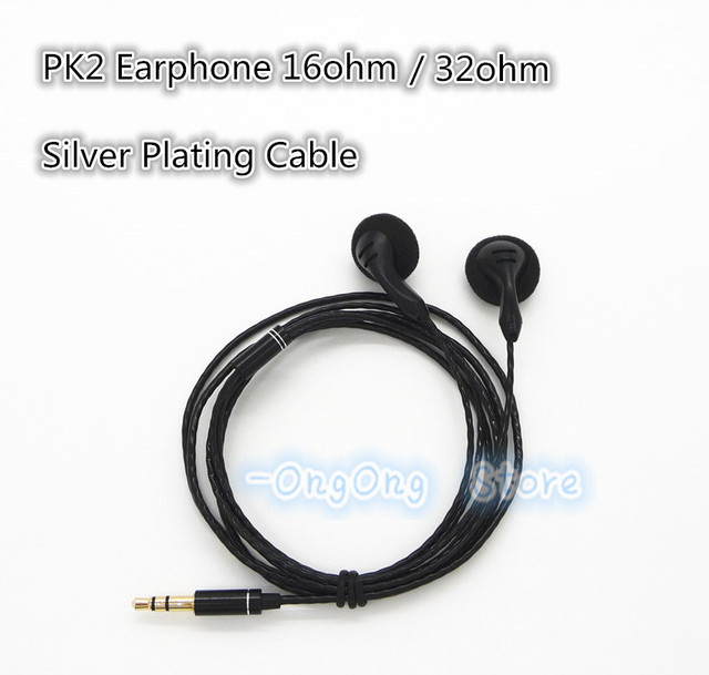 Yuin pk2 earphone diy headphone Retail HiFi Headphones 32ohm Sound powerful bass orignal PK2 drive Silver Plated cable