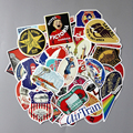 TD ZW 55Pcs/Lot Classic Retro Style WaterProof Stickers For Laptop Car Fridge Luggage Snowboard Cut Doodle Decal Sticker