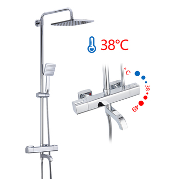 GAPPO Shower System bathroom thermostatic shower faucet bath shower mixer tap set waterfall bathtub faucet rain shower head set 8