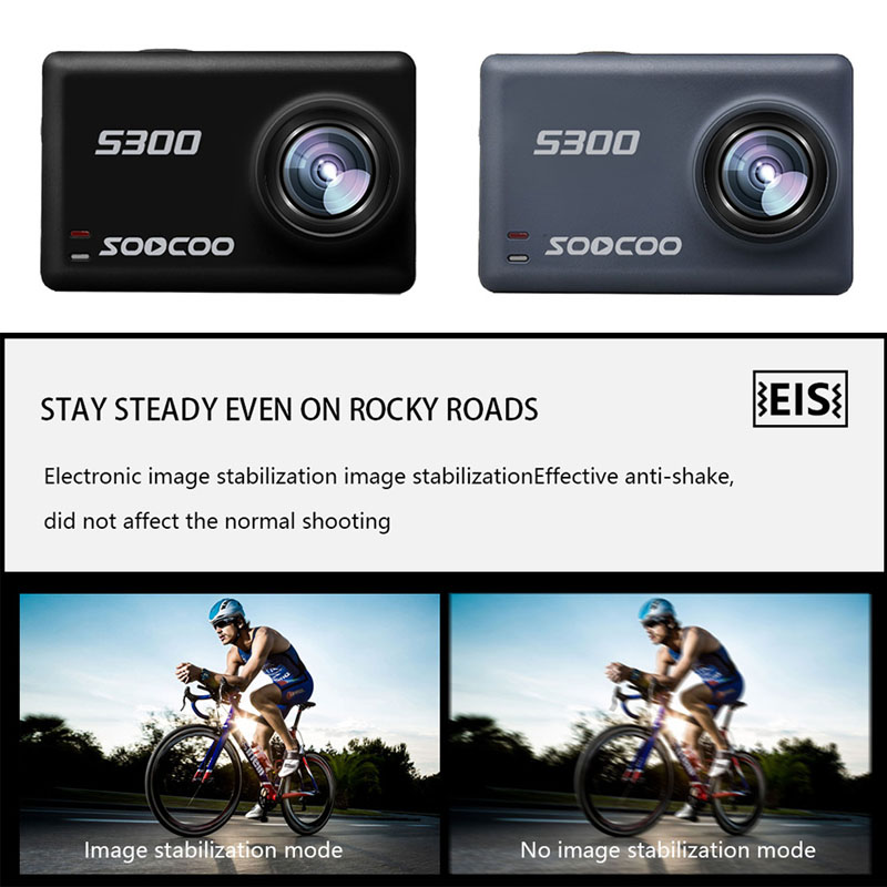Soocoo S300 action camera 4k 30FPS 2.35 Touchscreen wifi microphone GPS Mic remote control case camera sport camera 4k - 3