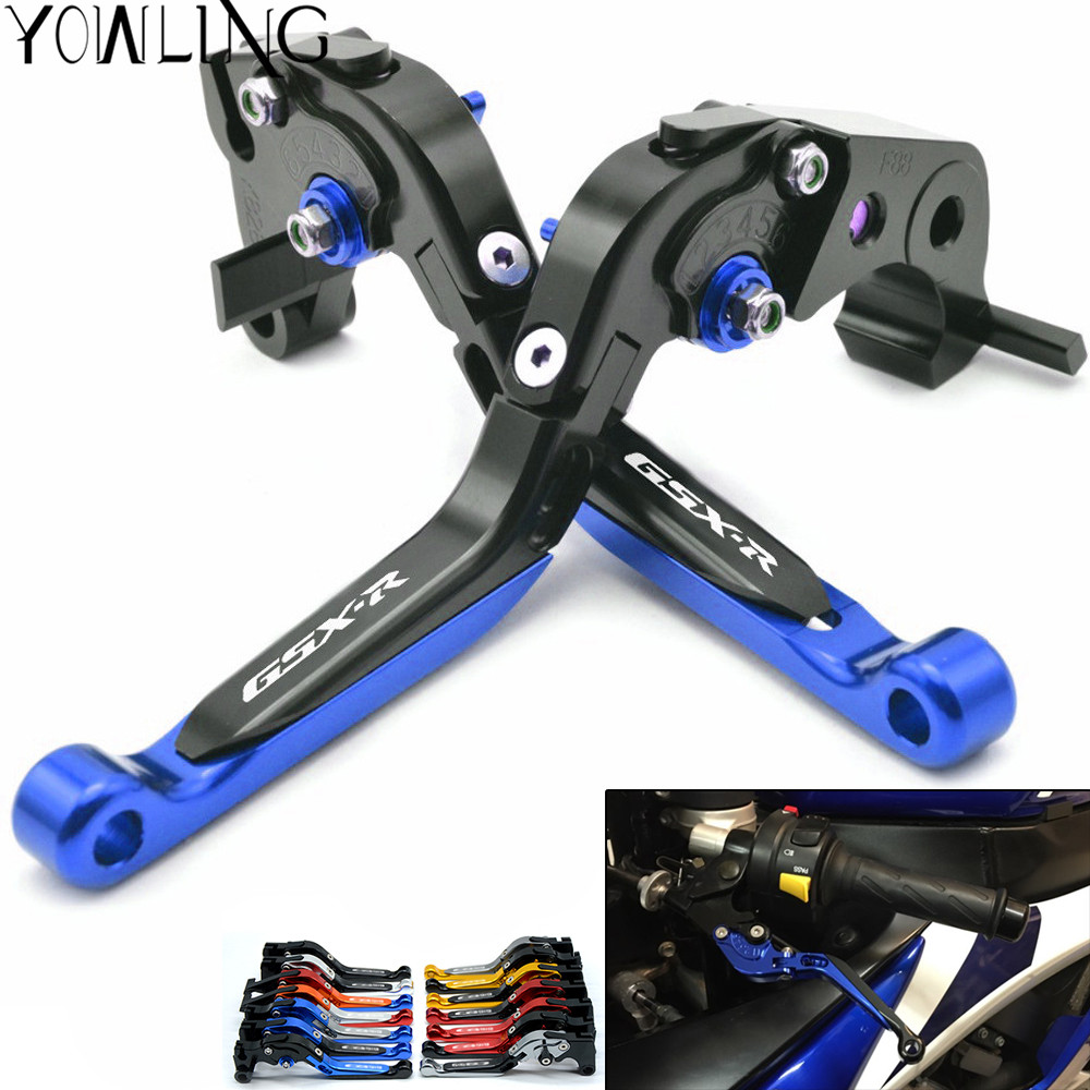 Motorcycle Adjustable Brake Clutch Lever Levers for SUZUKI GSXR 600 GSXR 750 K6 K7 K8 K9 K10 2006-2010& GSXR1000 K5 K6 2005 2006 7 8 22mm cnc universal handlebar protector brake clutch protect lever guard proguard for suzuki bandit gsxr 600 gsxr 750 1000