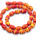 Fashion orange stripe turquoise multicolor rice jasper 8x12mm beautiful gems loose beads diy jewelry making 15 inch F251GS
