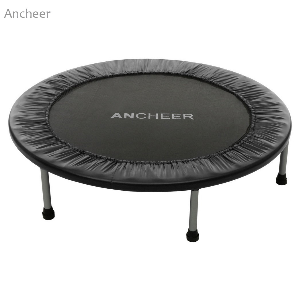 Ancheer New 102cm/40inch Trampoline High quality Folding Trampoline 102cm with Safety Pad fitness Trampoline sports Hot Sale larsen nero blue