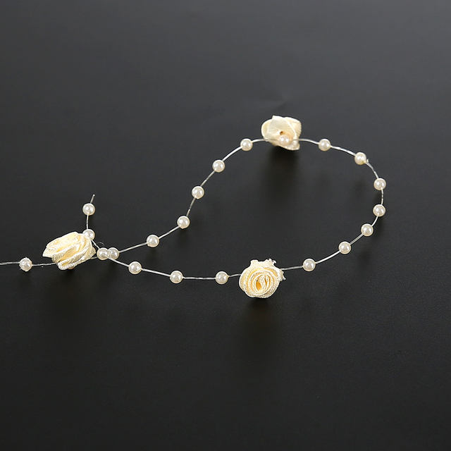 Rouleau de Roses perles 5 mètres   Vendu en chaque rouleau, décorations de mariage/fête/anniversaire AA7972