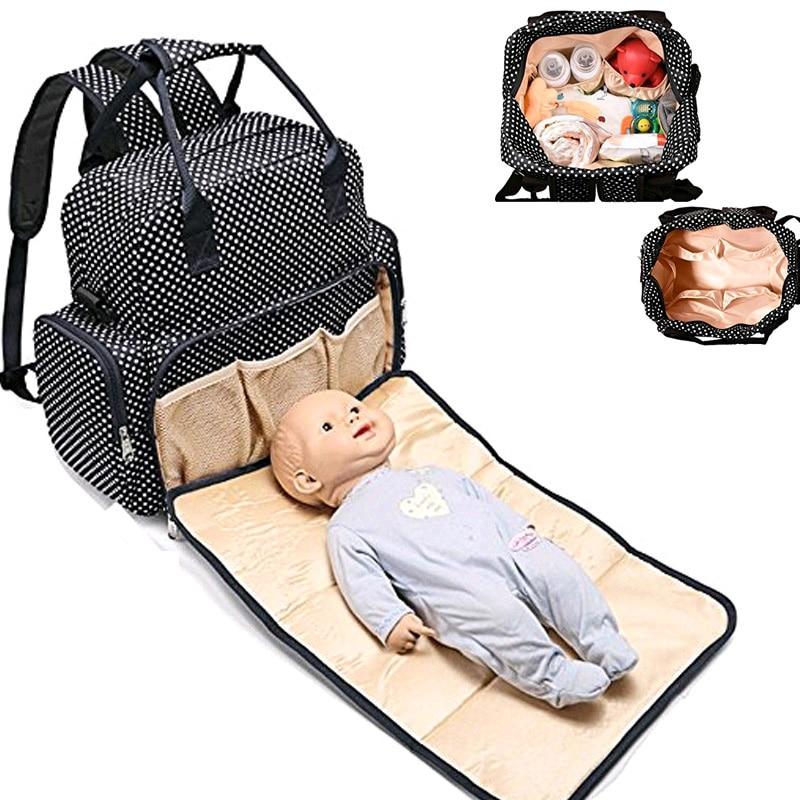Multifunctional Mummy Bag Backpack Diaper Bag Waterproof Baby Nappy Bag With Changing Pad Stroller Bag Large Capacity Designer