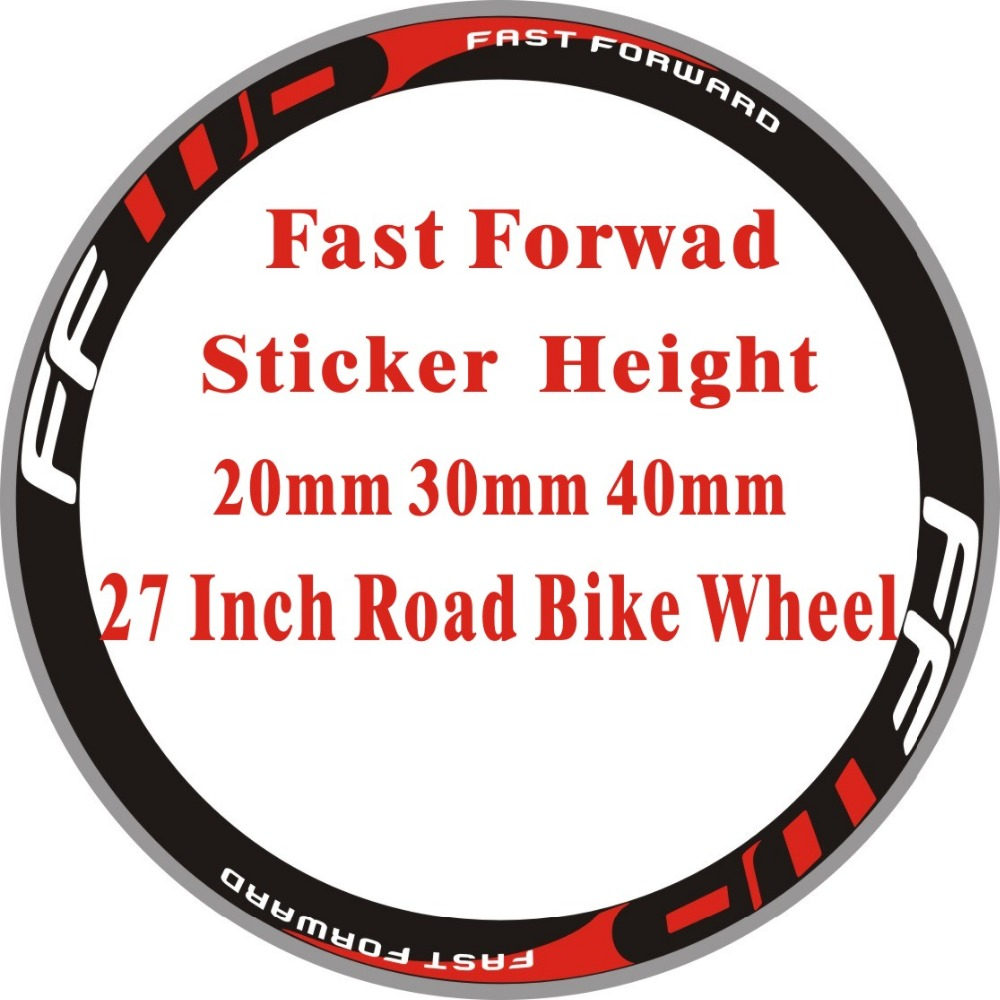 Ff 2wheels set road bike 700c wheel stickers racing bike wheel decorative decals bike decals wheel stickers