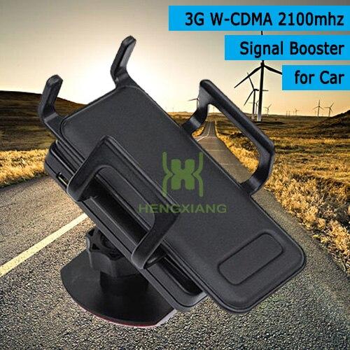 3G UMTS W-CDMA 2100 MHz del coche del teléfono móvil de la señal de refuerzo repetidor de señal de teléfono celular amplificador con soporte de montaje soporte para cualquier vehículo