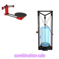 Combination sale, HE3D K280 delta 3D printer kit_ large build size 280mm in diameter 600mm in height, adding DIY 3D scanner