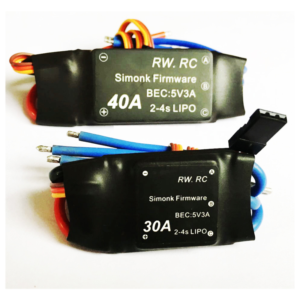 4pcs/lot Simonk 30A 40A 2-4S Brushless ESC Speed Control for Rc Multicopter 1pcs lot simonk 10a 12a 15a 20a 30a 40a firmware electronic speed controller esc for rc multicopter helicopter