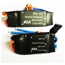 Simonk 30A / 40A 2-4S Bürstenlosen ESC Speed Control Für Rc Multicopter Rc Drone