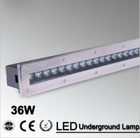 2pcs/lot 36w Warm white/RGB/Led floor lamp high power step light led ground lighting CE IP68 waterproof AC85 265V/12V