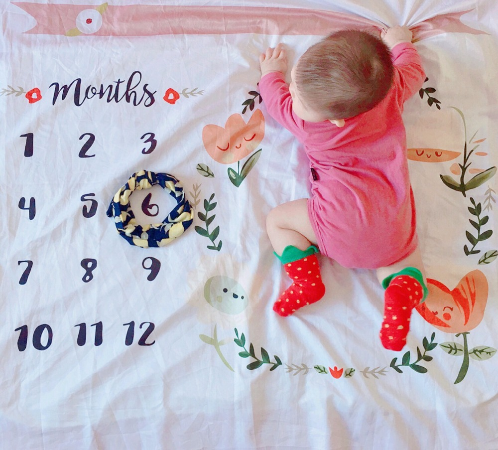 100x100CM Newborns photography props baby blanket Flower Background Blanket Rug Infant Photo Props fabrics Accessories