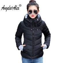 Winter Jacket Women 2017 New Women Fashion Slim Cotton Short Parka Female Jackets  Padded Warm and Comfortable Outwear