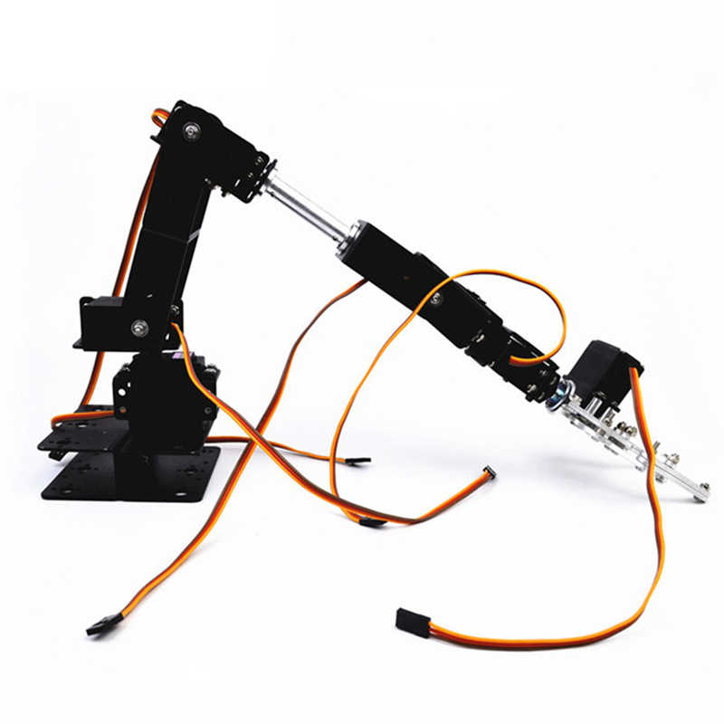 Martillo pequeño DIY 6DOF Metal RC Robot Kit de brazo y MG996 Servos