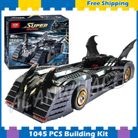 1045pcs Super Heroes Batman Batmobile Ultimate Collectors Edition 7116 Model Building Block Toys Gifts Sets Compatible With lego
