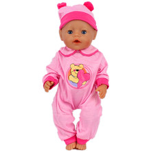 High Quality Pink Clothes Hat Wear Fit 43cm Baby Born Zapf Doll Clothes Children best Birthday
