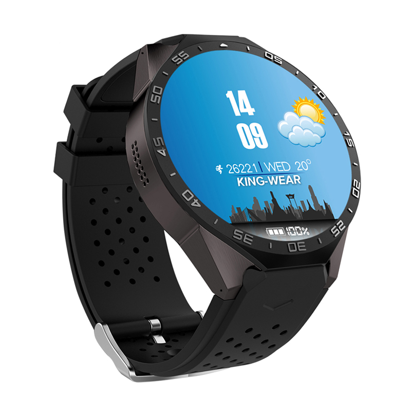 KW88 1.39 inch Touch Screen Smart Watch Heart Rate BT4.0+WiFi GPS 3G Sim Card Sports Men Smartwatch For IOS Android 5.1