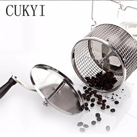 Stainless Steel Handuse Coffee Bean Roaster Espresso Coffee Bean Roaster With A Burner