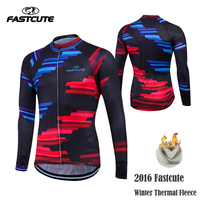 Fastcute 2016 Cycling Jersey Winter Long Bike Bicycle Thermal Fleece Ropa Roupa De Ciclismo Invierno Hombre