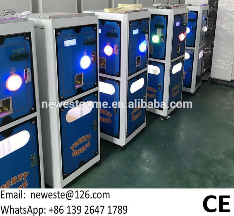 For All Over The World, With Card Reader System, Electronic Redemption Tickets House Tickets Counter Machine For Game Center
