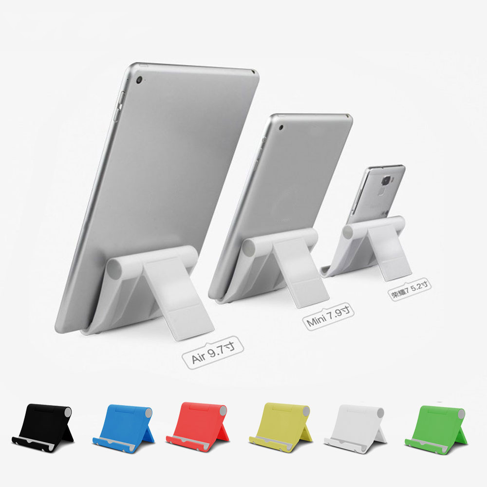 Universal Phone Tablet Holder 270 Adjustable Mini Desk Stand Anti Slide Silicone Rubber for iPhone iPad Samsung Xiaomi Huawei