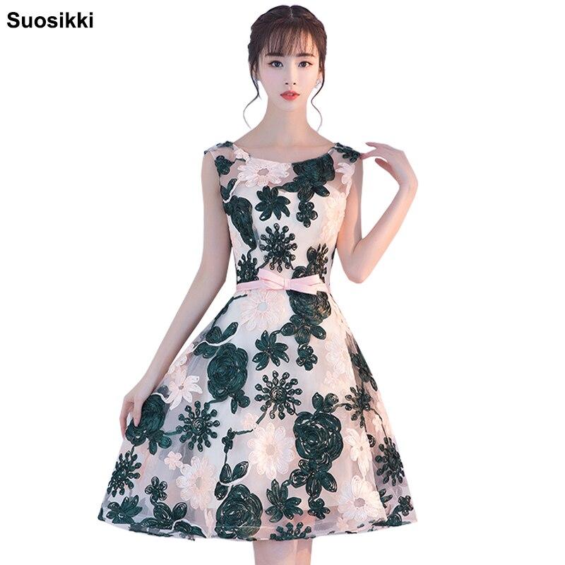 d4f4f6452e9c Suosikki βραδινό φόρεμα σύντομο δεξαμενή πράσινο γυναικείο δαντέλα ...