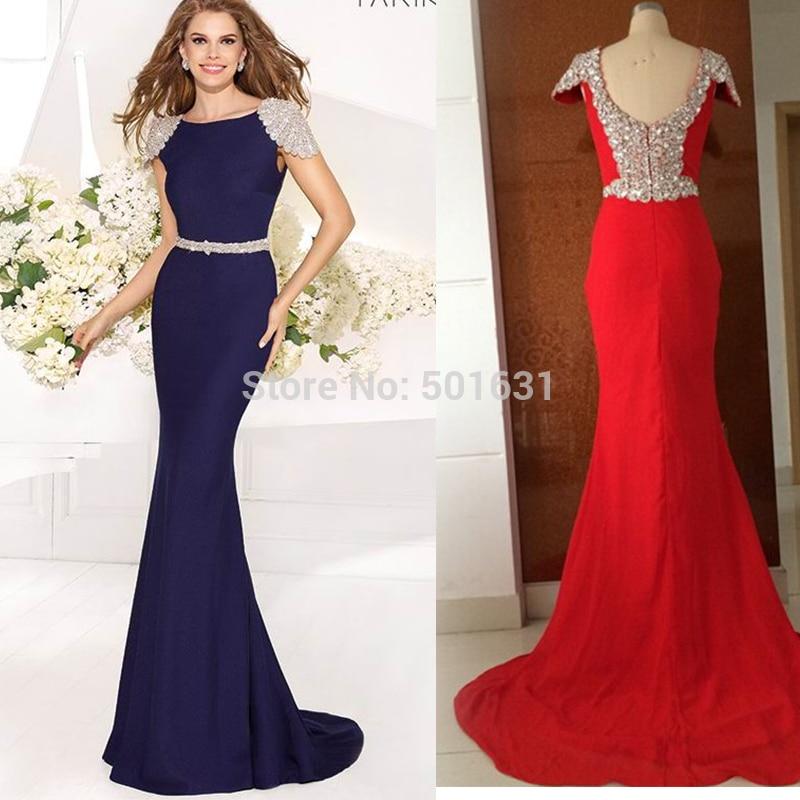 8bf93da52b9 Elegant New Beaded Mermaid Floor Length Evening Dress Long Prom Dresses  Boutique Dress Vestido De Festa Longo-in Evening Dresses from Weddings    Events on ...