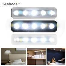 2019 Hot Selling Fast Shipping LED lighting 5X Bright Battery Operated Bulb Stick On Push On Strip Kitchen Shed Lights(China)