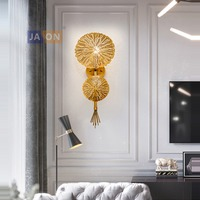 LED Nordic Iron Gold LED Lamp LED Light Wall lamp Wall Light Wall Sconce For Bedroom Corridor