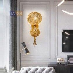 LED Nordic żelaza złoty lampa LED lampa LED światła kinkiet ściany światło kinkiet ścienny do sypialni korytarz
