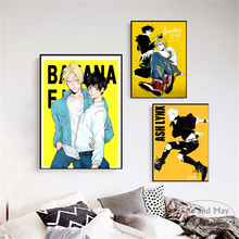Cartoon Banana Fish Japanese Anime Posters And Prints Wall Art Canvas Painting For Living Room Decoration Home Decor Unframed
