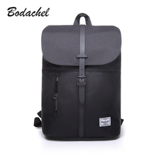 Bodachel 2017 new style women backpack simple design 14'' notebook backpacks waterproof canvas bucket backpack sac a dos rugzak