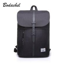 Bodachel 2016 new style women backpack simple design 14'' notebook backpacks waterproof canvas bucket backpack sac a dos rugzak