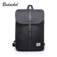 Bodachel 2016 New Style Women Backpack Simple Design 14 Notebook Backpacks Waterproof Canvas Oxford Sac A